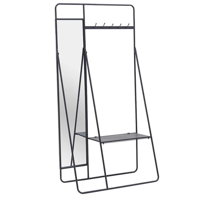 Έπιπλο Εισόδου Μεταλλικό inart 90x40x180εκ. 3-50-154-0002 (Υλικό: Μεταλλικό, Χρώμα: Μαύρο) – inart – 3-50-154-0002