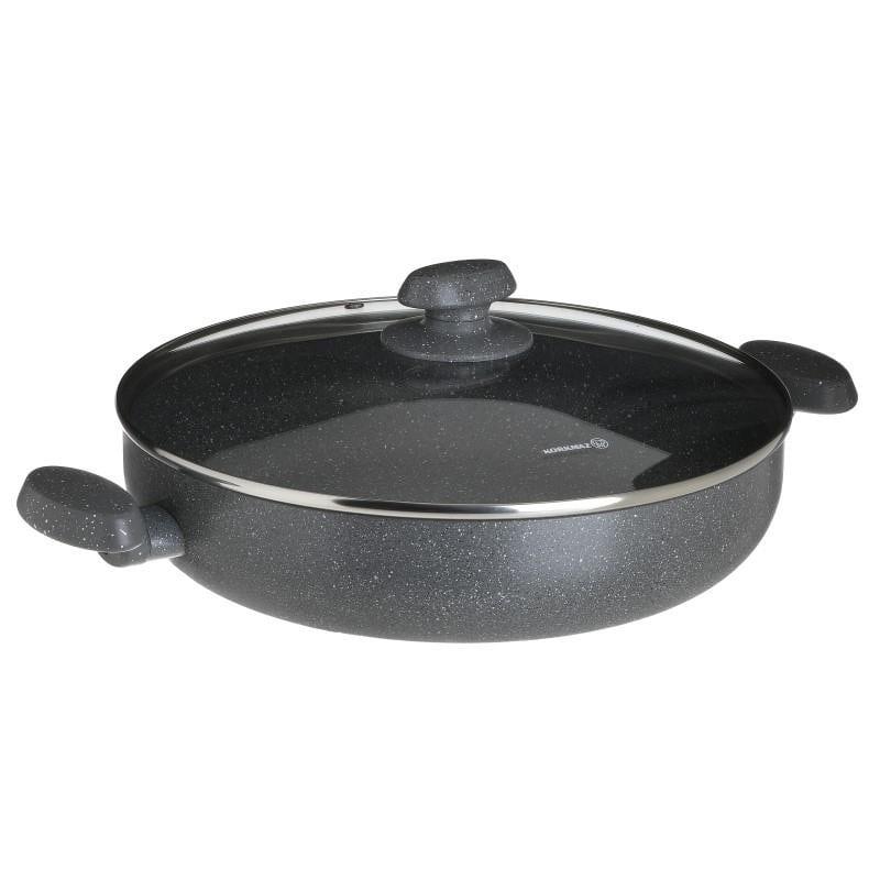 Κατσαρόλα Χαμηλή Granit 4,2LT Με Γυάλινο Καπάκι Ανοξείδωτη CLICK 30x30x7εκ. 6-60-734-0007 (Υλικό: Ανοξείδωτο, Χρώμα: Μαύρο) – CLICK – 6-60-734-0007