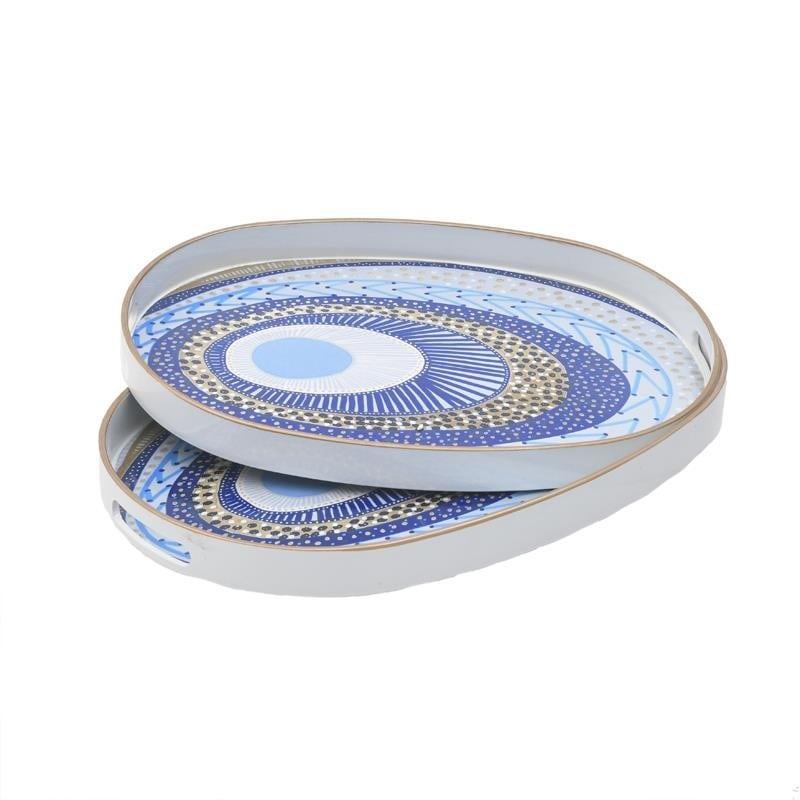 Δίσκος Σερβιρίσματος Σετ 2τμχ Μάτι Πλαστικός inart 44x30x4εκ. 3-70-973-0020 (Υλικό: Πλαστικό) – inart – 3-70-973-0020