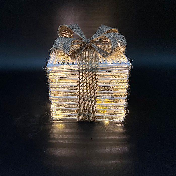 Διακοσμητικό Κουτί Δώρου Με Φως 15εκ. Xmasfest 93-2830 – Xmas fest – 93-2830
