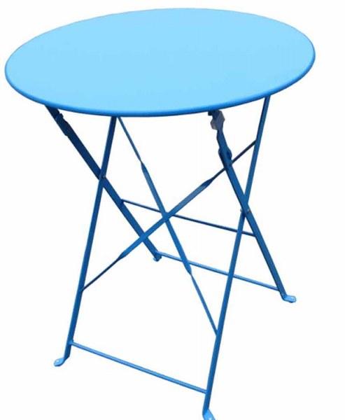 Τραπέζι Εξωτερικού Χώρου Αντικέ/80 Θαλασσί - OEM - antike/80-light-blue κηποσ   βεραντα τραπέζια κήπου