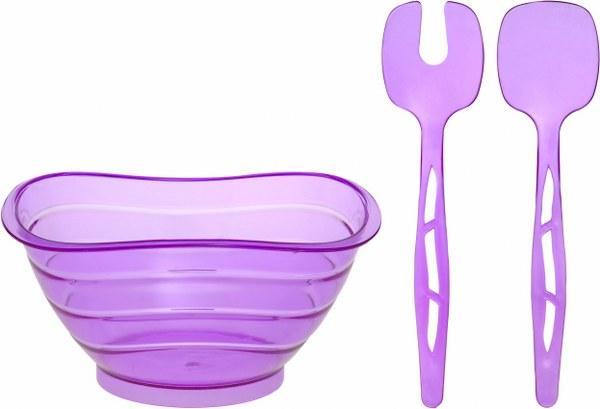 Σαλατιέρα με Κουτάλες Μωβ - OEM - 4-ASD080/P-1 κουζινα πιάτα   σερβίτσια