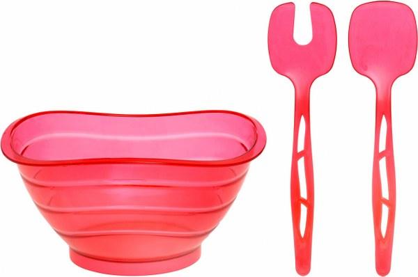 Σαλατιέρα με Κουτάλες Κόκκινη - OEM - 4-ASD080/R