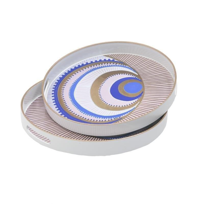 Δίσκος Σερβιρίσματος Σετ 2τμχ Μάτι Πλαστικός inart 37x37x4εκ. 3-70-973-0017 (Υλικό: Πλαστικό) – inart – 3-70-973-0017