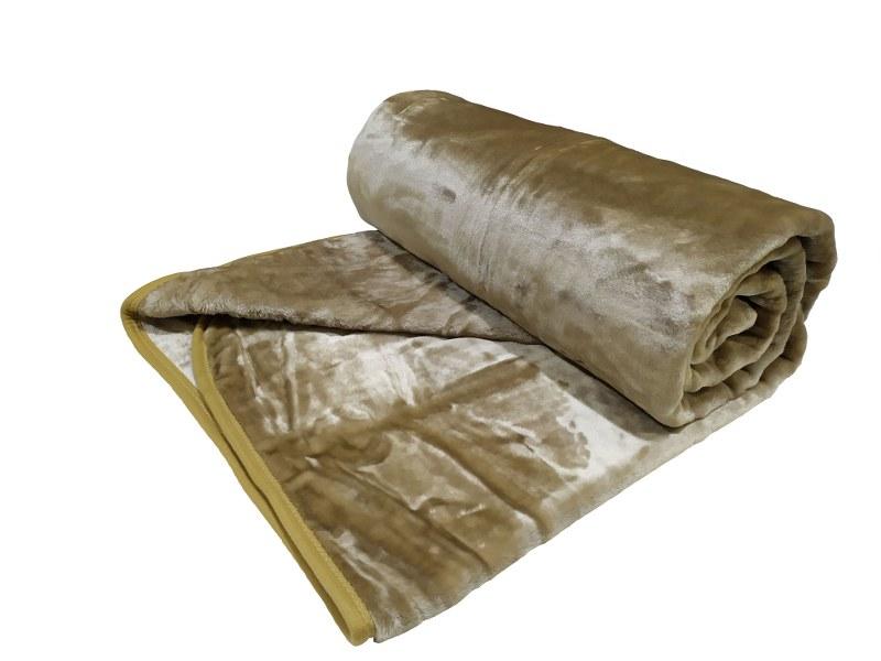 Κουβέρτα Βελουτέ Υπέρδιπλη 220×240εκ. Beige (Ύφασμα: Polyester, Χρώμα: Μπεζ) – OEM – 5201847011036-1