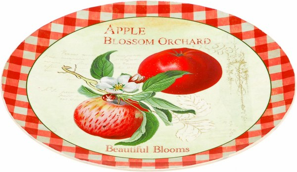 Πιατέλα Στρογγυλή Ακρυλική Μήλο – OEM – 4-BIG835/A