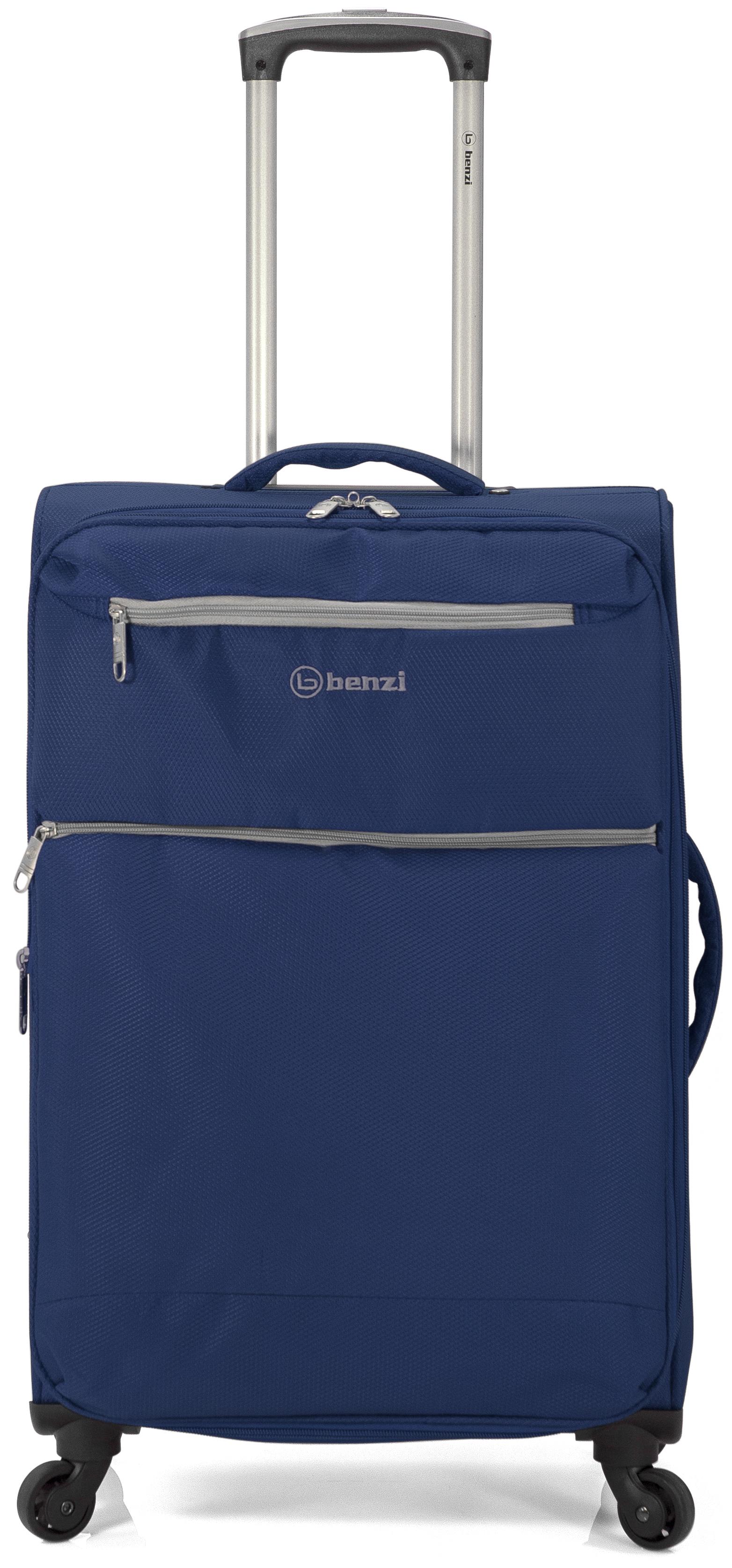 Σετ Βαλίτσες 3τμχ Τρόλευ benzi 4865 Blue - benzi - BZ-4865/3-blue ειδη οικ  χρησησ βαλίτσες   τσάντες ταξιδίου