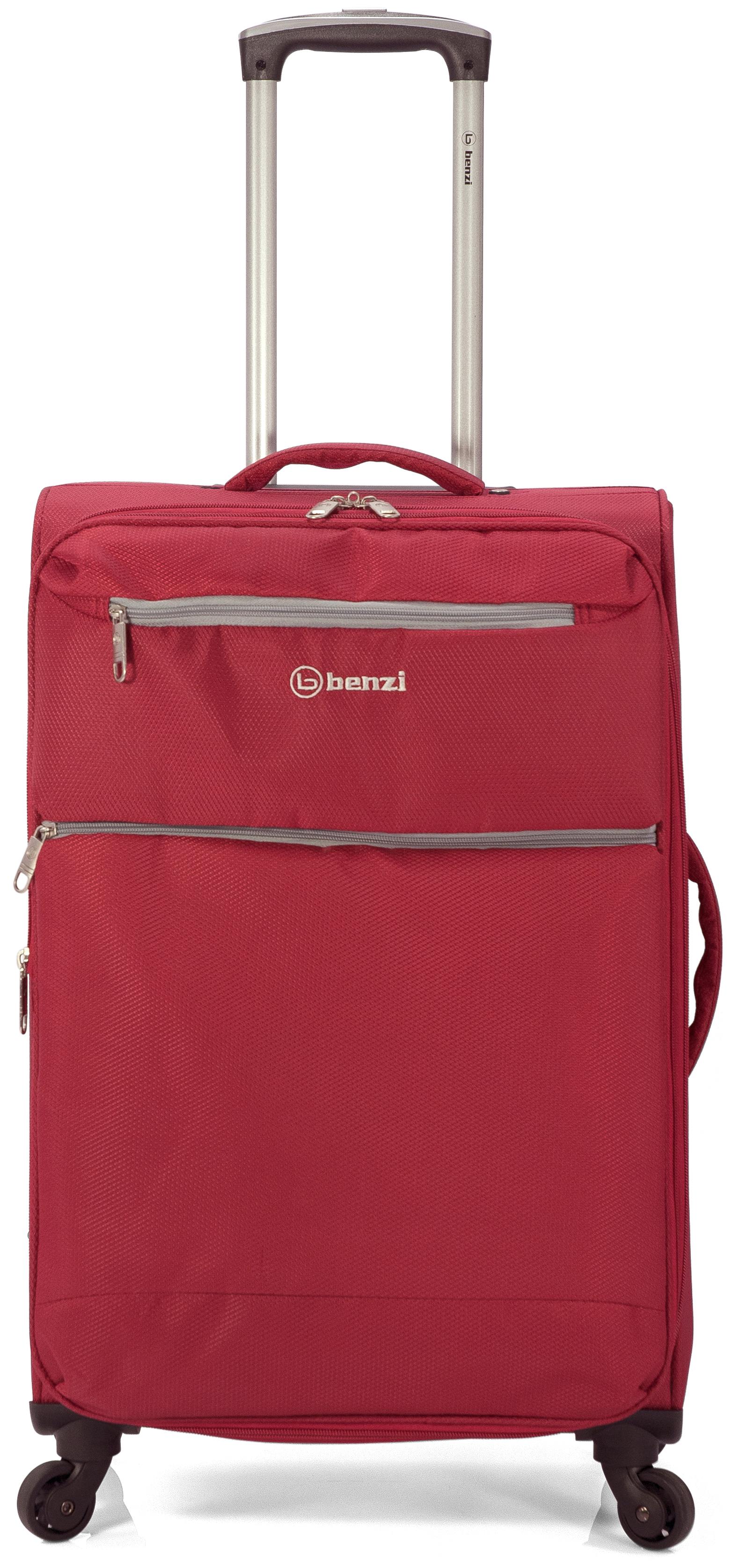 Σετ Βαλίτσες 3τμχ Τρόλευ benzi 4865 Red - benzi - BZ-4865/3-red ειδη οικ  χρησησ βαλίτσες   τσάντες ταξιδίου