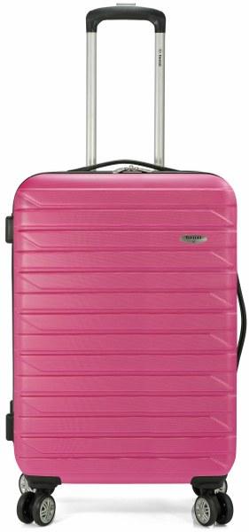 Σετ Βαλίτσες 3τμχ Τρόλευ με 4 Ρόδες benzi 4877 Pink - benzi - BZ-4877/3-pink ειδη οικ  χρησησ βαλίτσες   τσάντες ταξιδίου