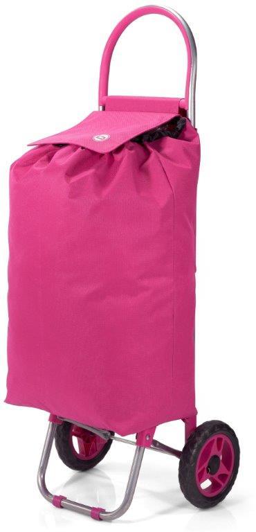 Καρότσι Λαΐκής Polyester 32x20x56εκ. benzi Pink (Ύφασμα: Polyester, Χρώμα: Ροζ) – benzi – BZ-5585-pink