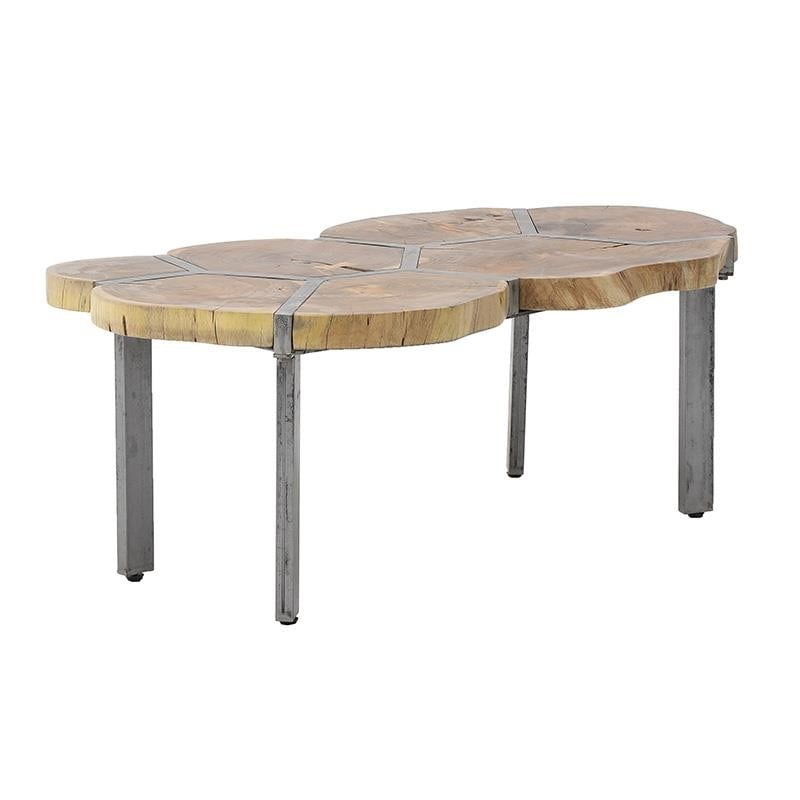 Τραπέζι Ξύλινο-Μεταλλικό inart 106x65x45εκ. 7-50-053-0007 (Υλικό: Ξύλο, Χρώμα: Καφέ) – inart – 7-50-053-0007