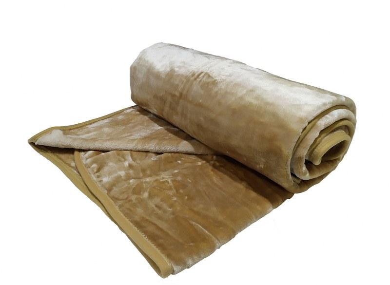 Κουβέρτα Βελουτέ Υπέρδιπλη 220×240εκ. Camel (Ύφασμα: Polyester, Χρώμα: Camel) – OEM – 5201847011036-2