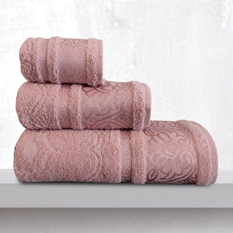 Σετ Πετσέτες 3τμχ Βαμβακερές Cronos Dusty Sb home (Ύφασμα: Βαμβάκι 100%, Χρώμα: Σάπιο Μήλο ) – Sb home – 5206864058774