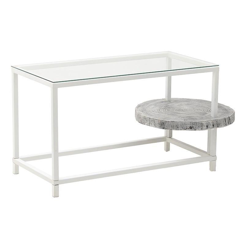 Τραπέζι Μεταλλικό-Ξύλινο-Γυάλινο inart 110x55x57εκ. 7-50-076-0002 (Υλικό: Ξύλο) – inart – 7-50-076-0002