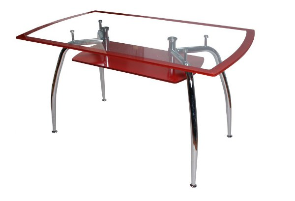 Τραπέζι Νίκελ με Διπλό Τζάμι Ασφαλείας Κόκκινο – OEM – 1-6120_kokkino