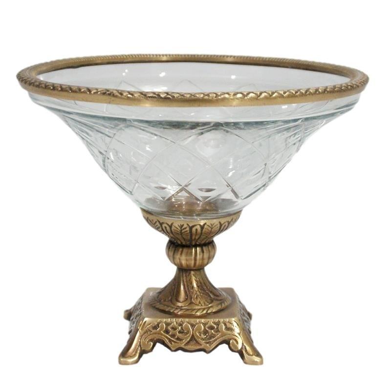 Διακοσμητικό Μπωλ Μεταλλικό-Γυάλινο Χρυσό-Διάφανο inart 22x22x18εκ. 3-70-124-0042 (Υλικό: Μεταλλικό, Χρώμα: Χρυσό ) – inart – 3-70-124-0042