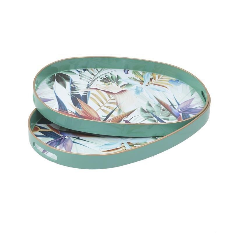 Δίσκος Σερβιρίσματος Σετ 2τμχ Tropical Πλαστικός inart 44x30x4εκ. 3-70-973-0019 (Υλικό: Πλαστικό) – inart – 3-70-973-0019