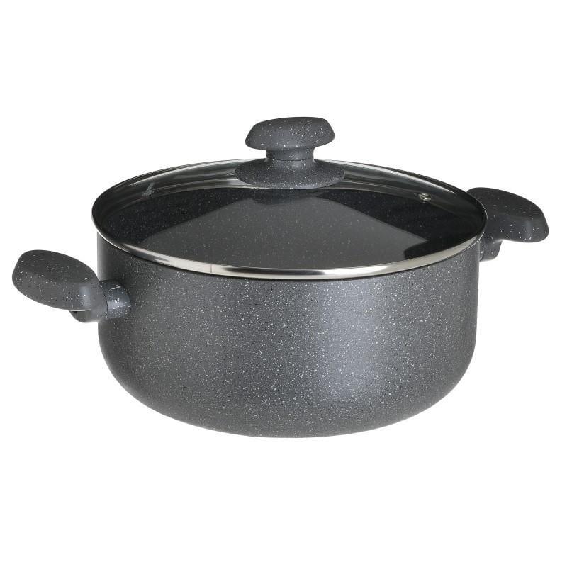 Κατσαρόλα Granit 5,8LT Με Γυάλινο Καπάκι Ανοξείδωτη CLICK 26x26x12εκ. 6-60-734-0006 (Υλικό: Ανοξείδωτο, Χρώμα: Μαύρο) – CLICK – 6-60-734-0006
