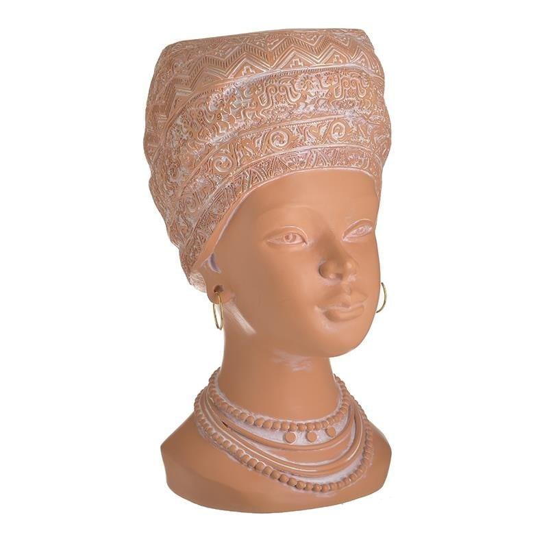 Κασπώ Γυναικεία Προτομή Polyresin Κεραμιδί inart 17x20x32εκ. 3-70-146-0432 (Υλικό: Polyresin, Χρώμα: Κεραμιδί ) – inart – 3-70-146-0432