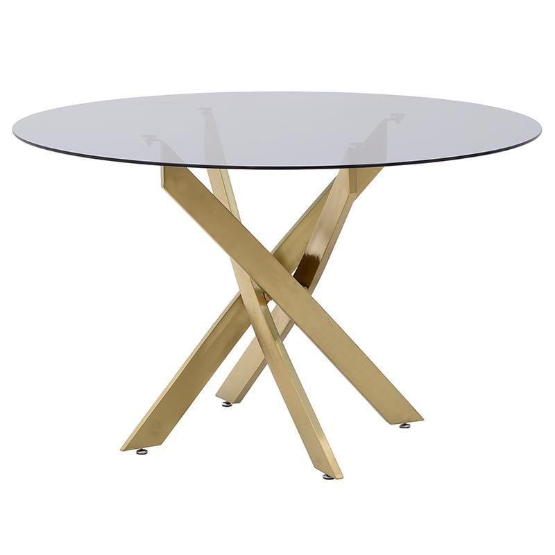 Τραπέζι Μεταλλικό-Γυάλινο inart 120×75εκ. 3-50-529-0001 (Υλικό: Μεταλλικό, Χρώμα: Χρυσό ) – inart – 3-50-529-0001