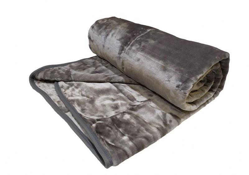 Κουβέρτα Βελουτέ Μονή 160×220εκ. Grey (Ύφασμα: Polyester, Χρώμα: Γκρι) – OEM – 5201847011029-3
