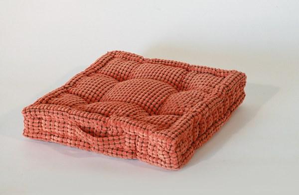 Μαξιλάρι Καρώ 45×45εκ. Πορτοκαλί – Sila Stefanidis – 18-C6-2905-portokali