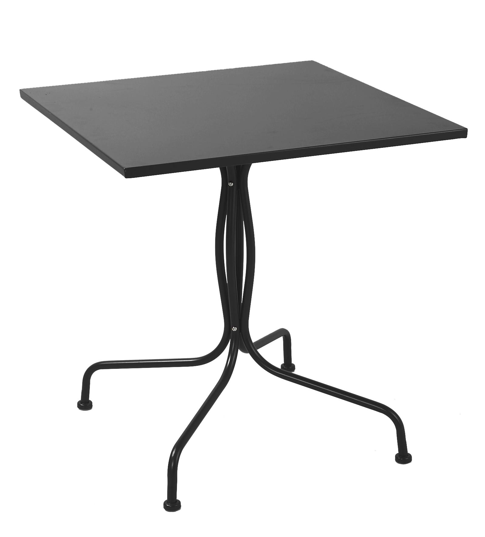 Μεταλλικό Τραπέζι Τετράγωνο Ανθρακί – OEM – 1-TAVOLINO-2