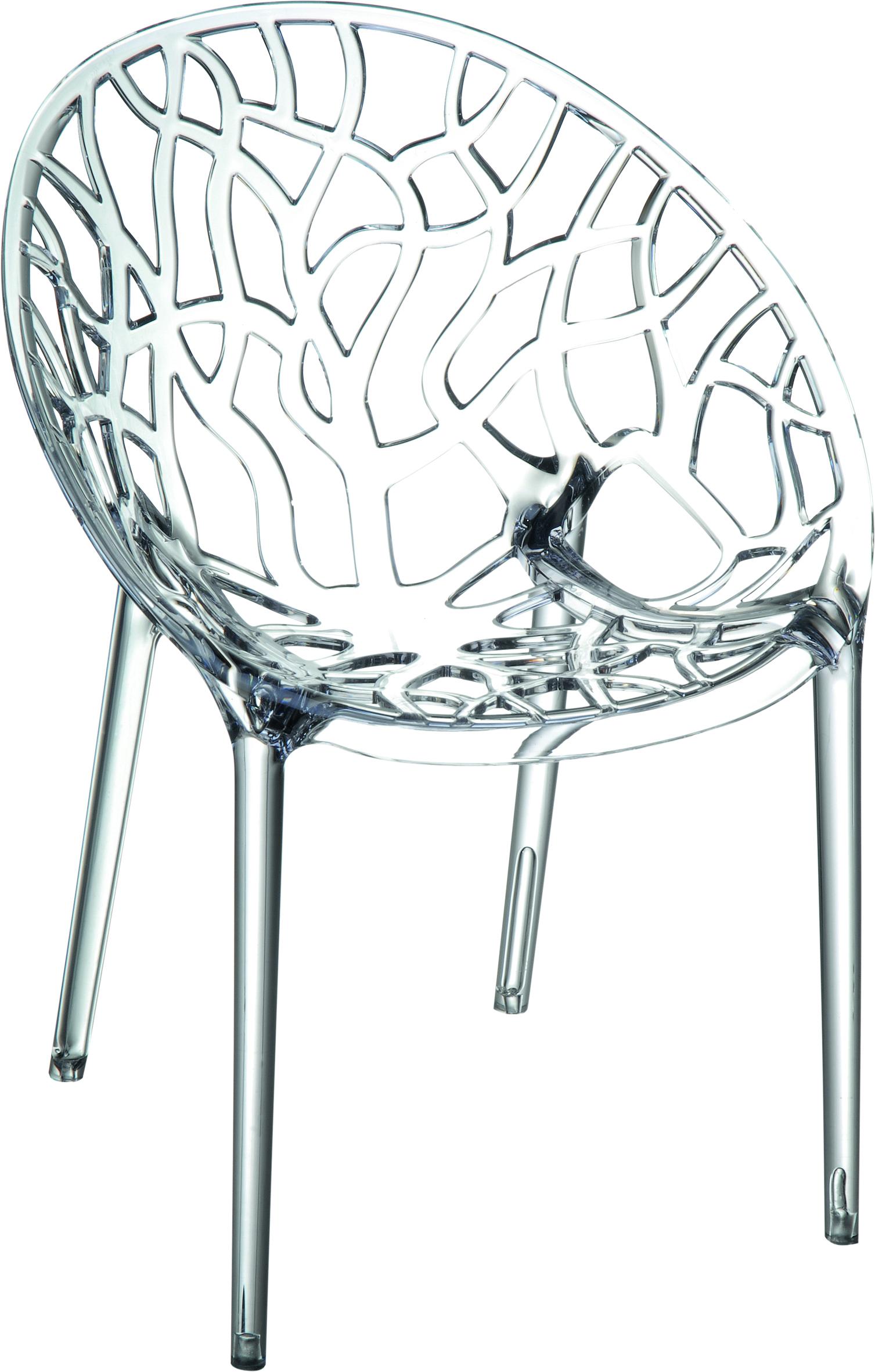 Πολυθρόνα Πολυκαρμπονική Διαφανής – OEM – 1-CRYSTAL-2