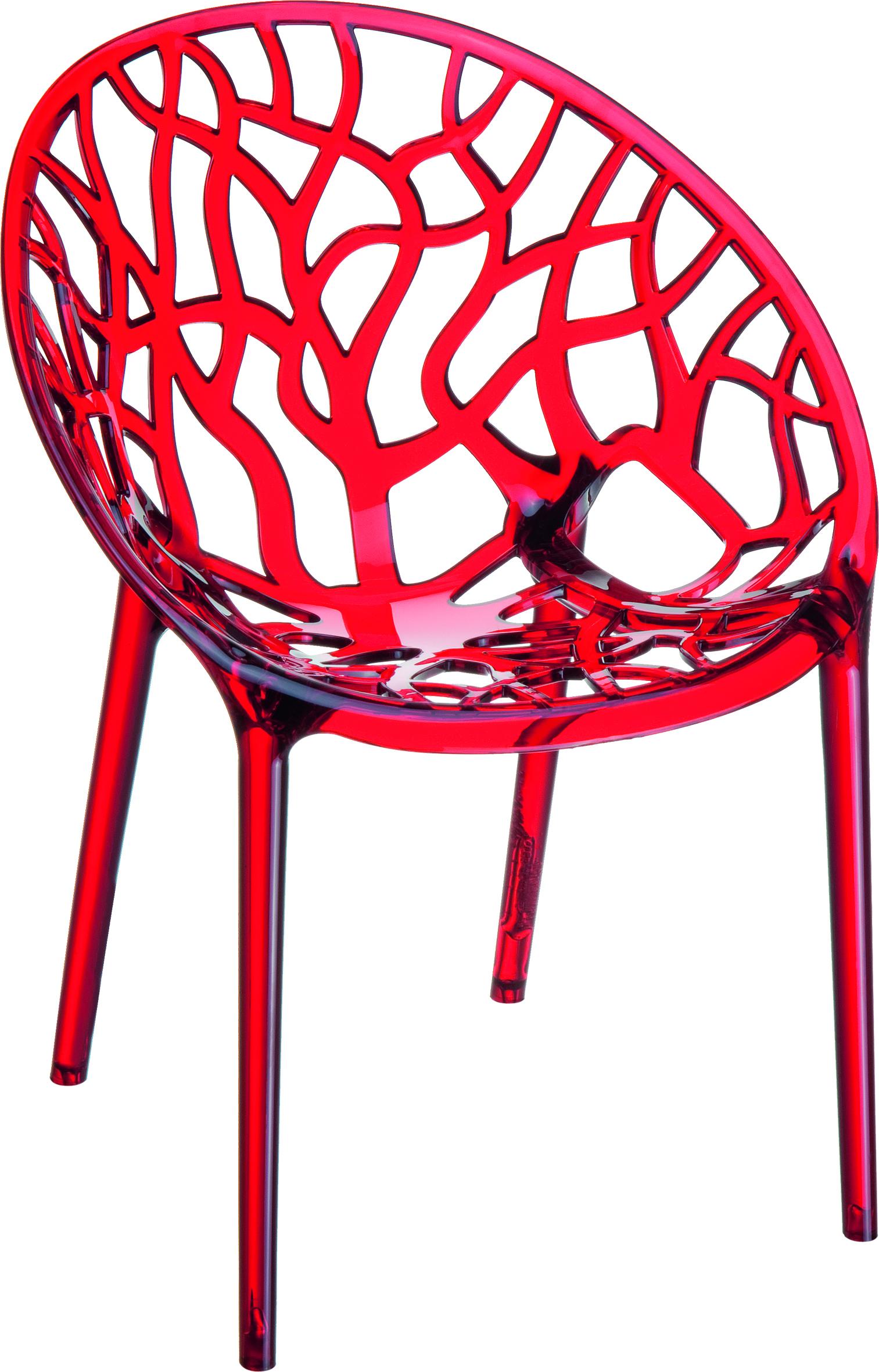 Πολυθρόνα Πολυκαρμπονική Κόκκινη – OEM – 1-CRYSTAL-4