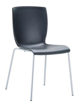 Καρέκλα Πολυπροπυλενίου Μαύρη - OEM - 1-MIO-2 επιπλα κουζίνα καρέκλες