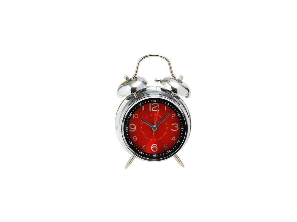Ρολόι - Ξυπνητήρι Ασημί/Κόκκινο - EVE - 4-DAN40_8R διακοσμηση κουζίνα ρολόγια