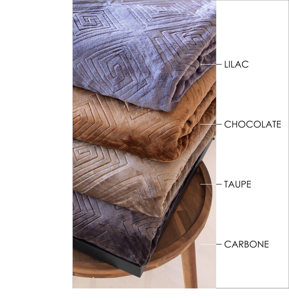 Κουβέρτα Μονή Ανάγλυφη Meandro Carbone – Sb home – meandro-carbone