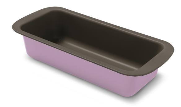Φόρμα Κέικ Αντικολλητική Χά 30x13x6,5εκ. Colors PAL 050.000384-Pink (Υλικό: Χάλυβας ) - PAL - 050.000384-pink