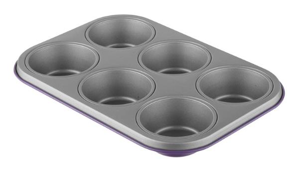 Φόρμα 6Θέσεων Αντικολλητική Χάλυβα 28x19x4εκ. Colors PAL 050.000385-Purple (Χρώμα: Κόκκινο, Υλικό: Χάλυβας ) – PAL – 050.000385-purple