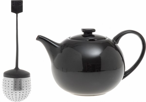 Σετ Τσαγιέρα Μαύρη Και Φίλτρο 1,5lt S&P My tea (Υλικό: Κεραμικό) – Salt & Pepper – BAM36830