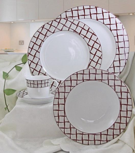 Σερβίτσιο Πορσελάνης 40 Τεμαχίων - AB - 6-455-40 κουζινα πιάτα   σερβίτσια