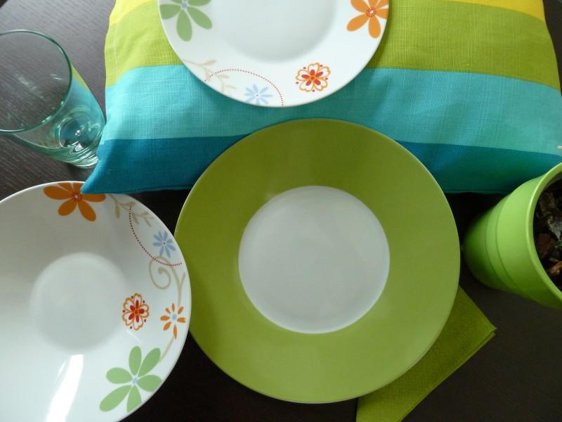Σερβίτσιο Πορσελάνης 40 Τεμαχίων - AB - 6-flowers-40 κουζινα πιάτα   σερβίτσια