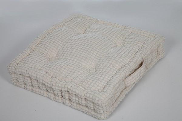 Μαξιλάρι Καρώ 45×45εκ. Εκρού – Sila Stefanidis – 18-C6-2902