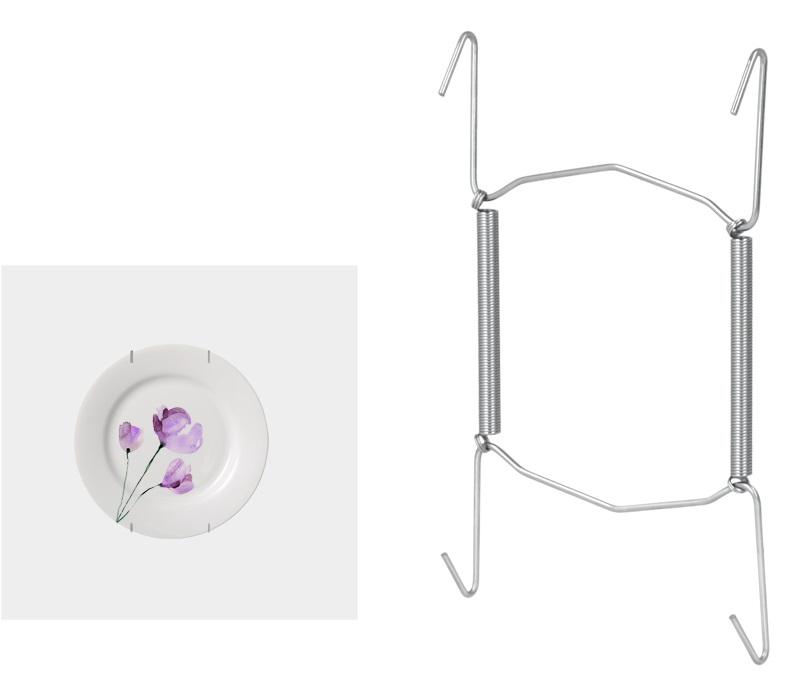 Στήριγμα Αναρτήσεως Πιάτων Τοίχου 9-18εκ. Metaltex – METALTEX – 209001