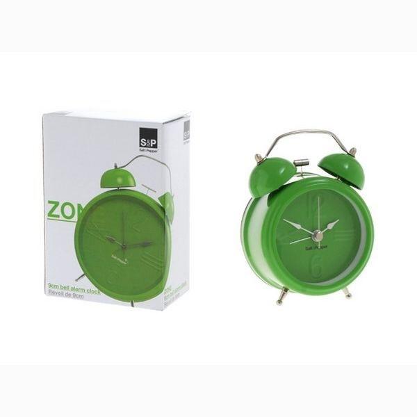 Ρολόι – Ξυπνητήρι Μεταλλικό «Zone» Πράσινο S&P – Salt & Pepper – BAM36410