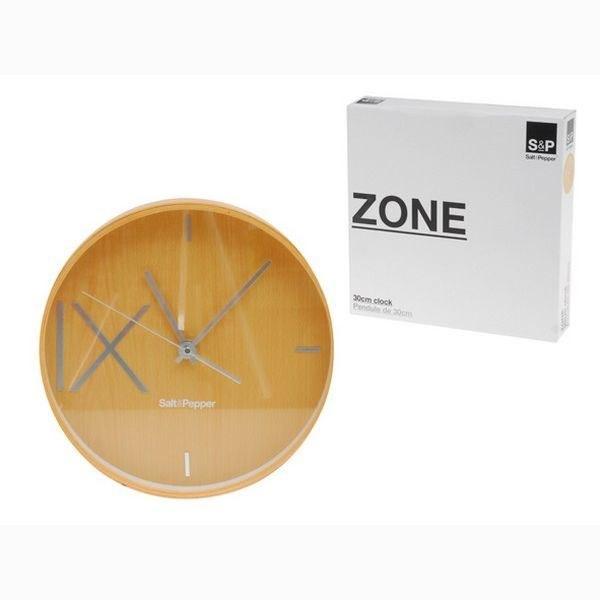 """Ρολόι Τοίχου """"Zone"""" Καφέ Ανοιχτό S&P - Salt & Pepper - BAM33308 διακοσμηση κουζίνα ρολόγια"""