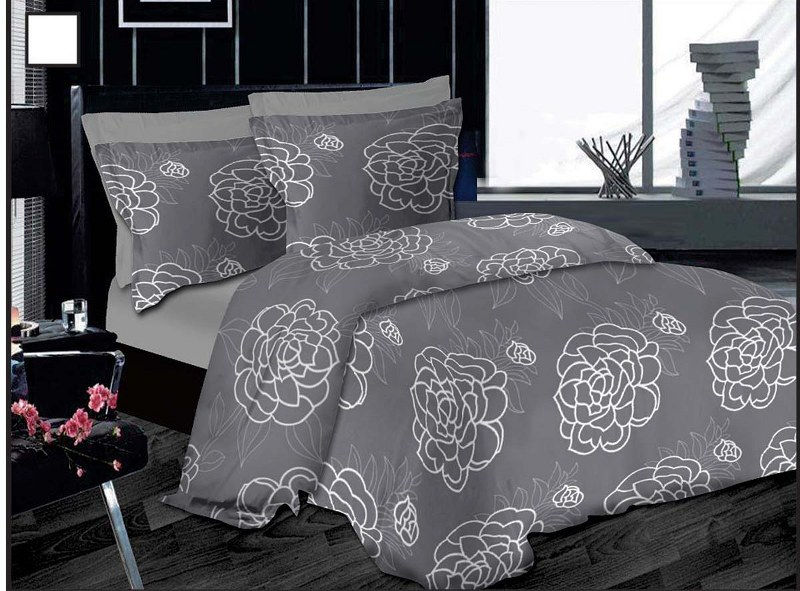 Le Blanc Σετ Πάπλωμα Μονό Premium Εμπριμέ Night Lotus Grey - Le Blanc - night-lotus-grey-pap1