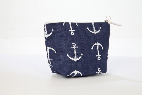 Τσαντάκι Θαλάσσης Anchors - L in S Fashion - p9-1013 λευκα ειδη θαλάσσης τσάντες θαλάσσης