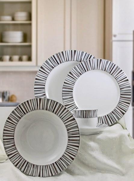 Σερβίτσιο Πορσελάνης 72 Τεμαχίων - AB - 6-805-72 κουζινα πιάτα   σερβίτσια