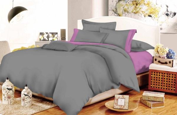 Παπλωματοθήκη Υπέρδιπλη Με Φάσα Γκρι – Λιλά 220×240εκ. (Ύφασμα: 50%Cotton-50%Polyester, Χρώμα: Λιλά) – KOMVOS HOME – fasa-grey-lilac-th2