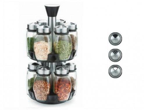 Μπαχαριέρα Περιστρεφόμενη 12 Θέσεων Ανοξείδωτη - OEM - 8632002/2/3/3 κουζινα βάζα   δοχεία