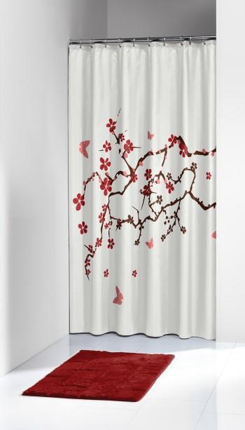 Κουρτίνα Υφασμάτινη «Blossom Red» Sealskin – sealskin – 233451359