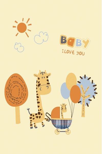 Κουβέρτα Μπεμπέ Βελουτέ Le Blanc Baby Giraffe – Le Blanc – baby-giraffe-b