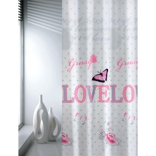 Κουρτίνα Μπάνιου Υφασμάτινη Love Joy Bath - Joy Bath Accessories - love μπανιο κουρτίνες μπάνιου