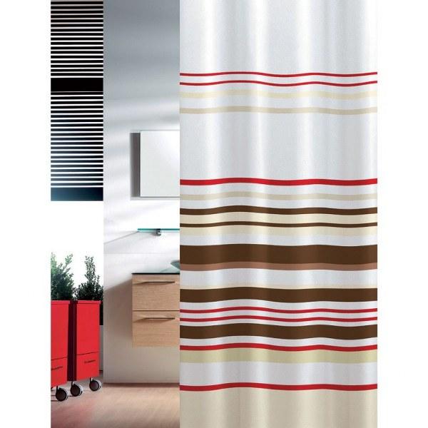 Κουρτίνα Μπάνιου Υφασμάτινη Stripes Joy Bath - Joy Bath Accessories - stripes μπανιο κουρτίνες μπάνιου